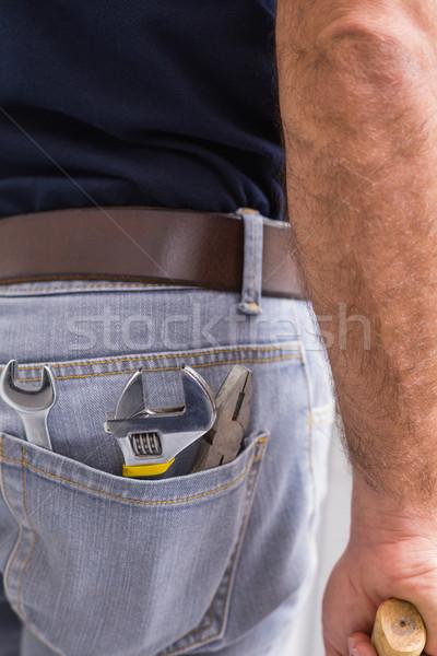 便利屋 ツール 戻る ポケット キッチン 修復 ストックフォト © wavebreak_media