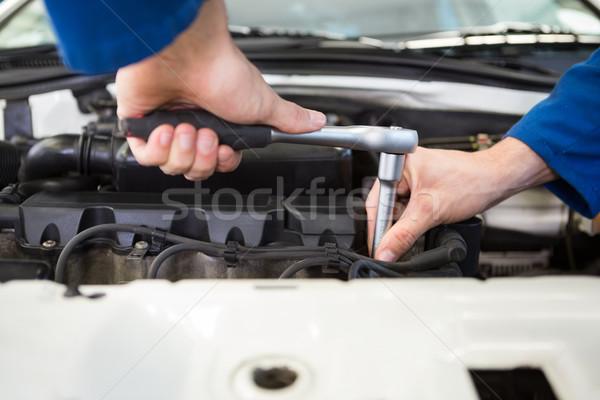 Close up of mechanic working on car Stock photo © wavebreak_media