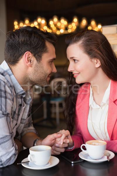 Cute paar datum cafe meisje liefde Stockfoto © wavebreak_media