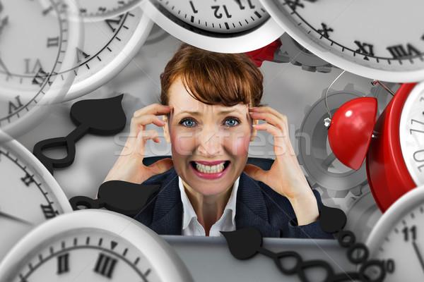 Composite image of stressed businesswoman Stock photo © wavebreak_media