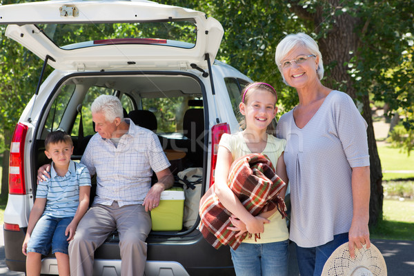 Grandparents going on road trip with grandchildren Stock photo © wavebreak_media