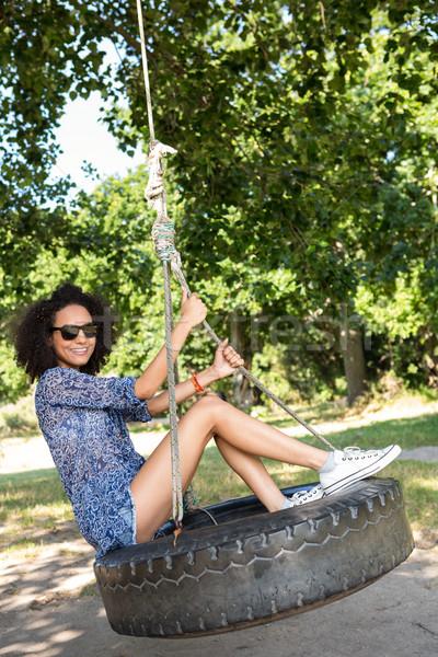 довольно шин Swing счастливым природы Сток-фото © wavebreak_media