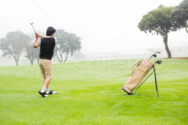 Golfer teeing off Stock photo © wavebreak_media