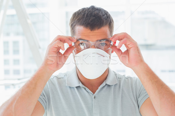Bricoleur masque portrait Photo stock © wavebreak_media