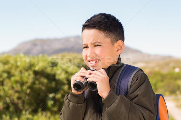 Wenig Junge Wandern Berge Kompass Stock foto © wavebreak_media