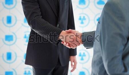 Empresários aperto de mãos escritório mãos profissional Foto stock © wavebreak_media