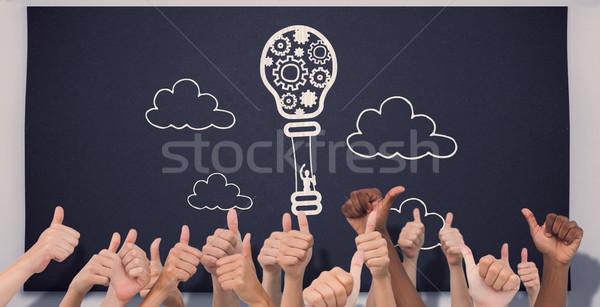 Composite image of hands giving thumbs up  Stock photo © wavebreak_media