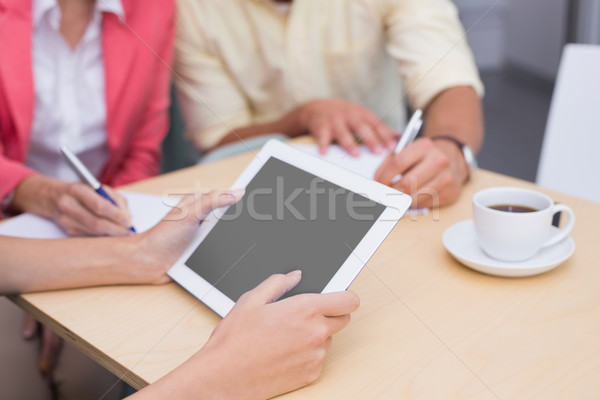 Close up of a tablet pc and a mug of coffee Stock photo © wavebreak_media
