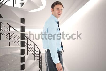 Fiatal technikus áll tart irat szerver Stock fotó © wavebreak_media