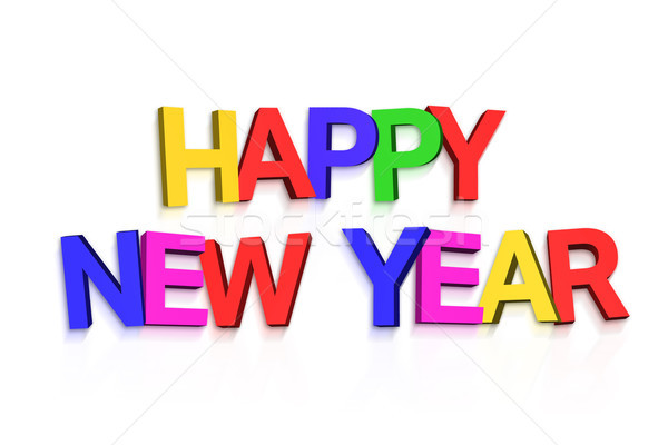 New year greeting in colourful letters Stock photo © wavebreak_media