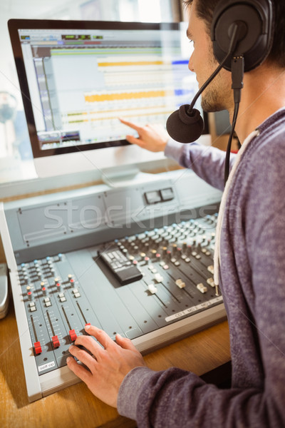 Portrait of an university student mixing audio Stock photo © wavebreak_media