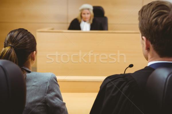 судья говорить Адвокаты решение суд Сток-фото © wavebreak_media