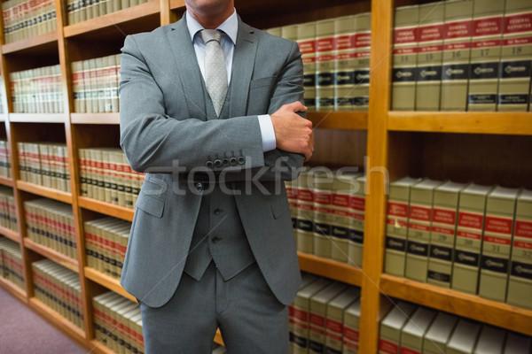 ügyvéd áll törvény könyvtár egyetem könyv Stock fotó © wavebreak_media
