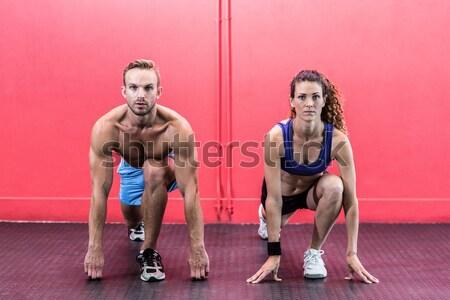 筋肉の カップル crossfitの ジム 男 ストックフォト © wavebreak_media