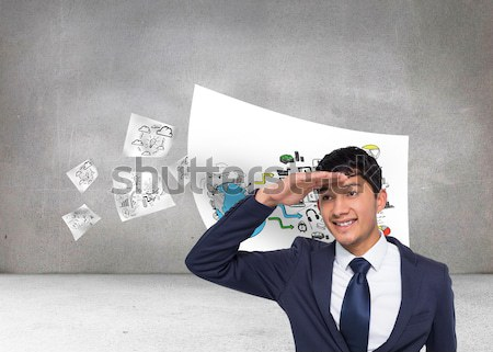 Composite image of brunette suffering from migraine  Stock photo © wavebreak_media