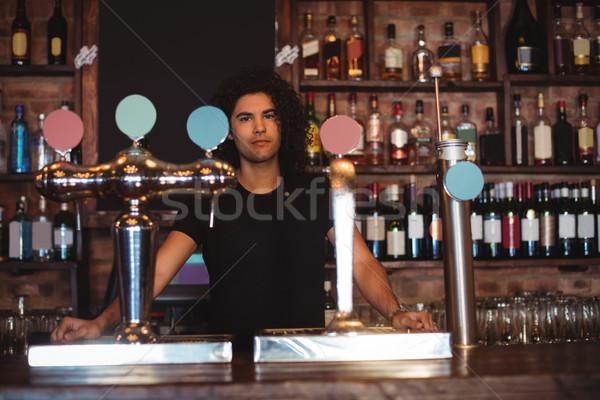 Maschio bar tenero counter ritratto felice Foto d'archivio © wavebreak_media