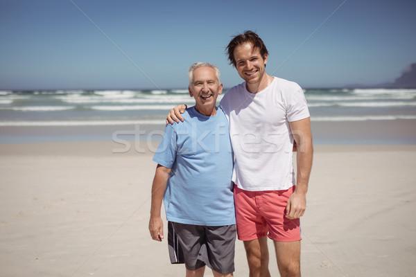 Portrait of smiling family at beach Stock photo © wavebreak_media