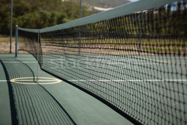 Stock photo: Close up of tennis court