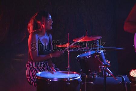 ドラマー 音楽 コンサート 笑みを浮かべて マイク ストックフォト © wavebreak_media