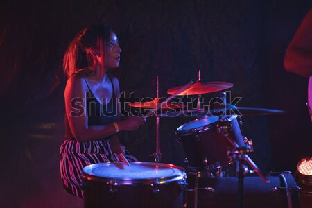 Drummer performing at music concert Stock photo © wavebreak_media