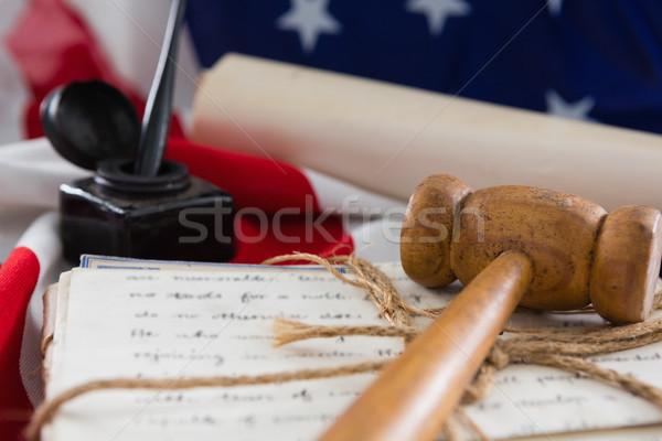 Tokmak yasal belgeler amerikan bayrağı arka plan Stok fotoğraf © wavebreak_media