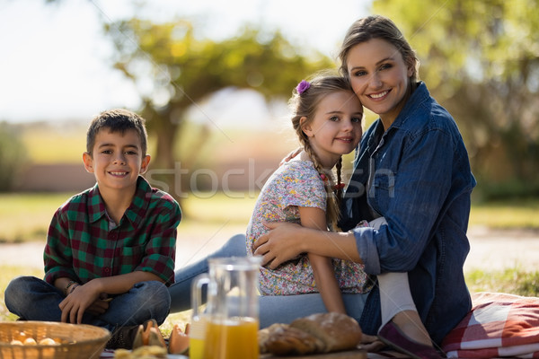Mother and kids enjoying together on picnic in park Stock photo © wavebreak_media
