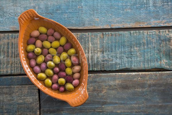 Pickled olives in bowl Stock photo © wavebreak_media