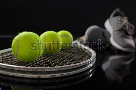 Floresan sarı tenis Stok fotoğraf © wavebreak_media