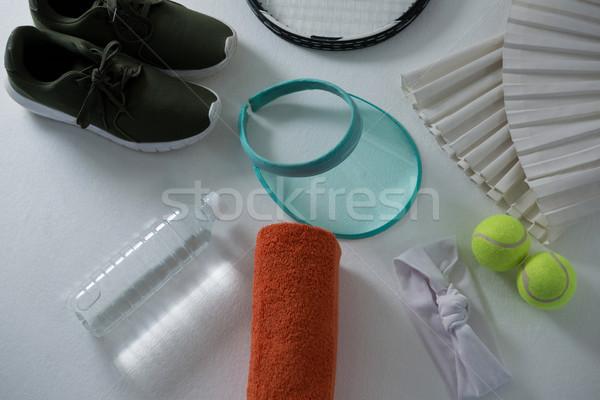 Widoku sportowe biały działalności sportu Zdjęcia stock © wavebreak_media
