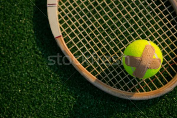 Vue balle de tennis bandage raquette domaine affaires Photo stock © wavebreak_media
