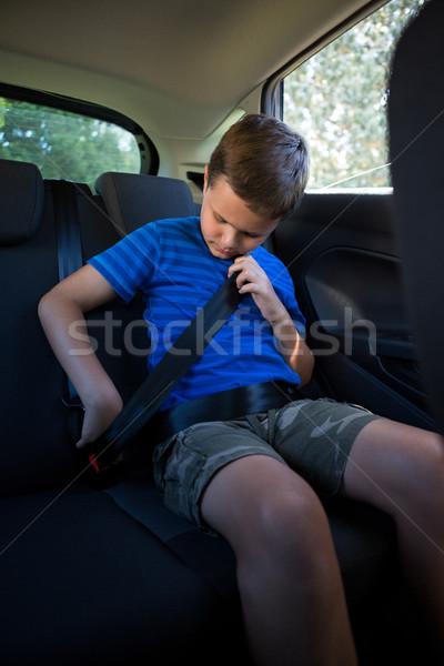 着用 座席 ベルト 戻る 車 ストックフォト © wavebreak_media
