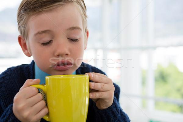少年 ビジネス 執行 コーヒーマグ オフィス ストックフォト © wavebreak_media