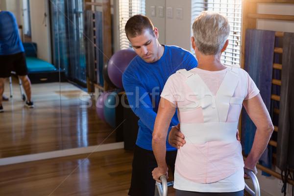 Beteg séta sétál keret klinika nő Stock fotó © wavebreak_media