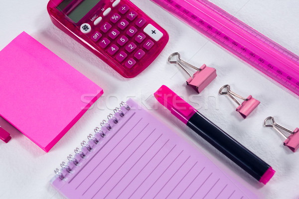Kırtasiye beyaz hesap makinesi notepad Stok fotoğraf © wavebreak_media