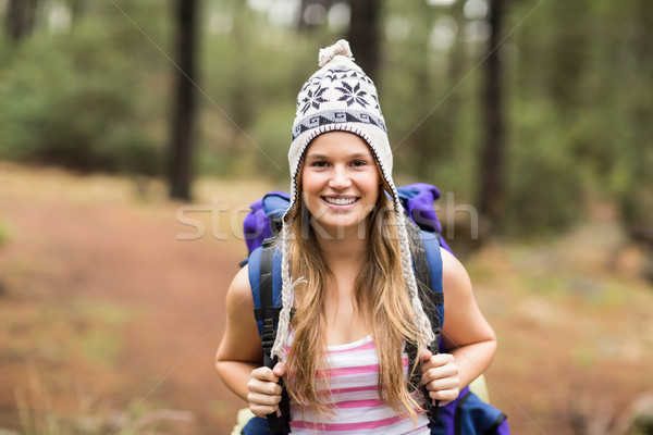 Portrait of a young happy hiker Stock photo © wavebreak_media