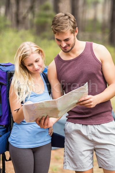 小さな 幸せ ジョギング 見える 地図 自然 ストックフォト © wavebreak_media