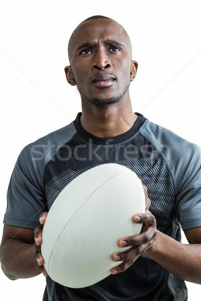 ラグビー プレーヤー 立って 白 思考 ストックフォト © wavebreak_media