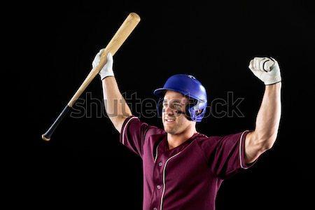 Boldog rögbi játékos levegő fehér férfi Stock fotó © wavebreak_media