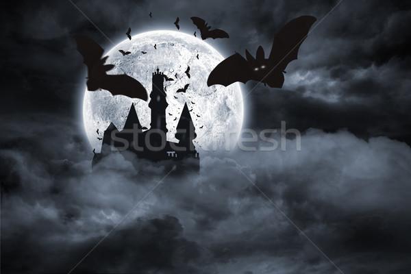 Bats flying from draculas castle Stock photo © wavebreak_media
