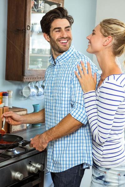 вместе кухне домой женщину Сток-фото © wavebreak_media