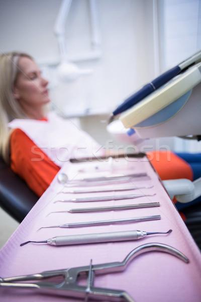 女性 リラックス 歯科 椅子 歯科 ツール ストックフォト © wavebreak_media