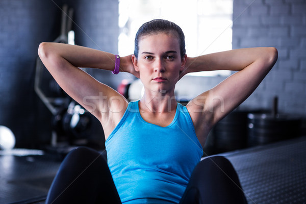 Portrait of serious female athlete in gym Stock photo © wavebreak_media