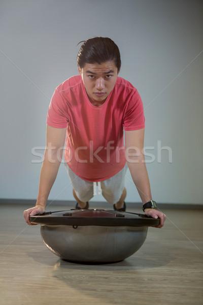 Férfi portré jóképű férfi nő fitnessz egészség Stock fotó © wavebreak_media