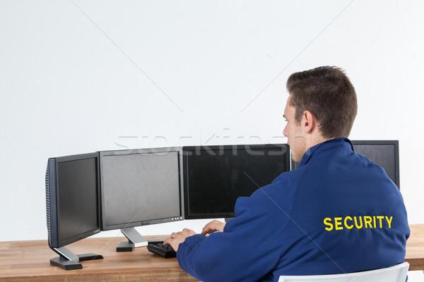 безопасности офицер белый компьютер человека Сток-фото © wavebreak_media