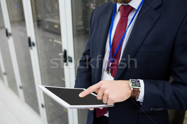 техник цифровой таблетка сервер комнату Сток-фото © wavebreak_media