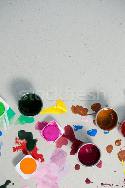 Watercolors spilled on white background Stock photo © wavebreak_media