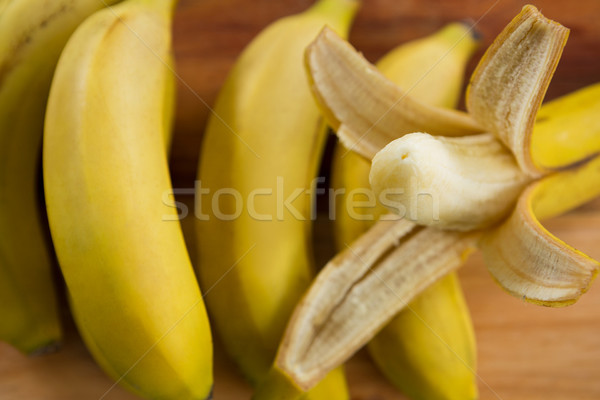 Vers bananen hout ontbijt banaan Stockfoto © wavebreak_media