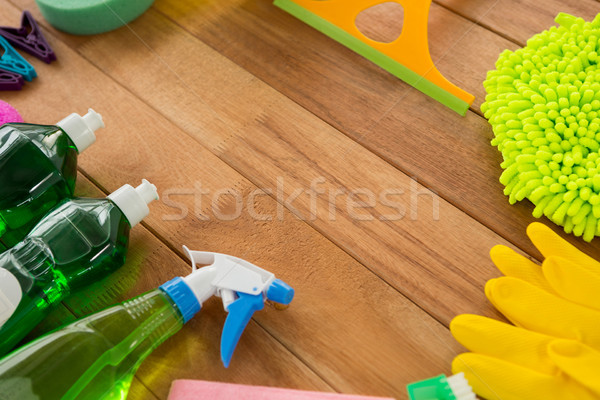 High angle view of various cleaning products Stock photo © wavebreak_media
