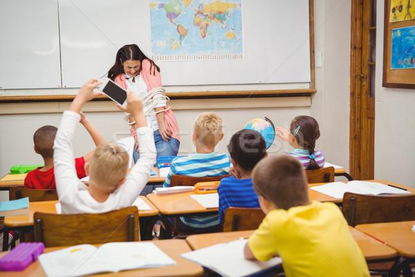 学生 紙 クラス 少女 子 ストックフォト © wavebreak_media