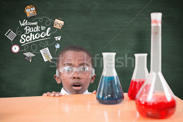 Composite image of pupil doing science experiment Stock photo © wavebreak_media